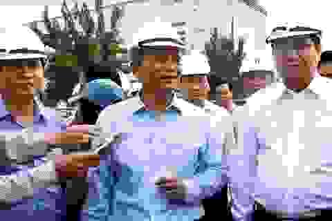 Bí thư, Chủ tịch Đà Nẵng thị sát công trình hầm chui phục vụ APEC