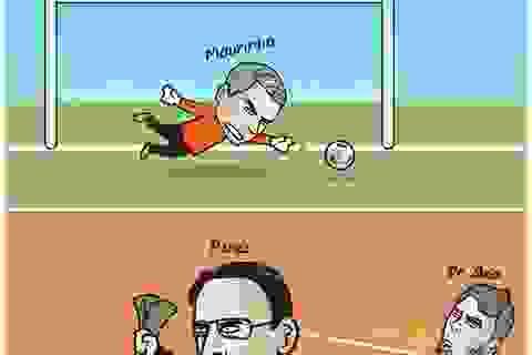 Góc biếm họa: Real Madrid vung tiền mua thủ môn… Mourinho
