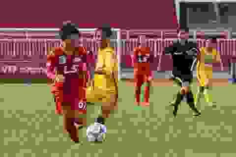 TPHCM thắng đậm đội bóng đàn em tại giải bóng đá nữ vô địch quốc gia 2017