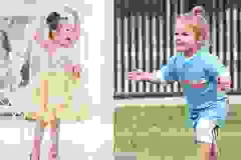 Con gái Elly Trần búi tóc đáng yêu như Harper nhà Beckham