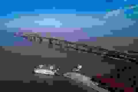 Ngắm cầu vượt biển dài nhất Việt Nam trước ngày thông xe