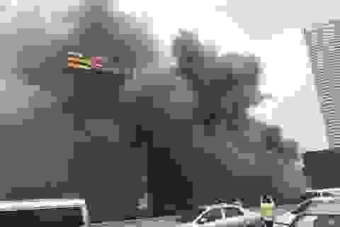 Hà Nội: Cháy dữ dội gần tòa nhà Keangnam