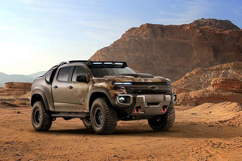 """Chevrolet Colorado ZH2 Concept - """"Dấn thân"""" vào việc nhà binh"""