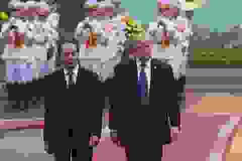 Tổng thống Trump tới Phủ Chủ tịch hội đàm với Chủ tịch nước