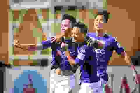 Thắng sát nút Quảng Nam, Hà Nội FC mơ vô địch V-League