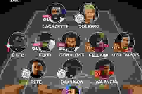 Đội hình tiêu biểu lượt về bán kết Europa League: Fellaini có suất
