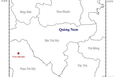 Quảng Nam lại xảy ra động đất