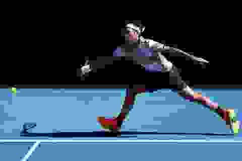 """Federer """"lướt nhanh"""",  Kerber vất vả giành vé đi tiếp"""