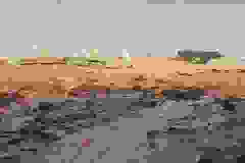 Bùn đất từ 40 móng biệt thự trái phép ở Sơn Trà đổ xuống biển