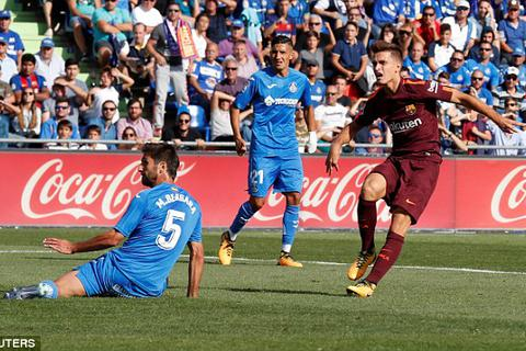 Hạ Getafe, Barcelona duy trì mạch toàn thắng ở La Liga