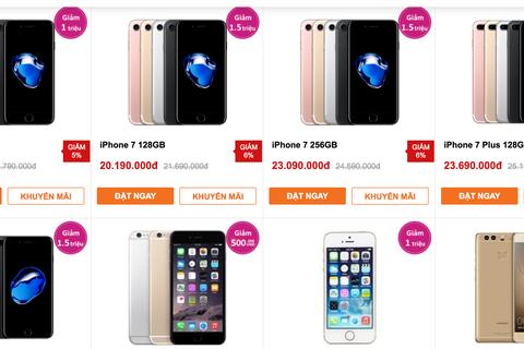 iPhone giảm giá tiền triệu kích cầu trước khi rơi vào mùa thấp điểm