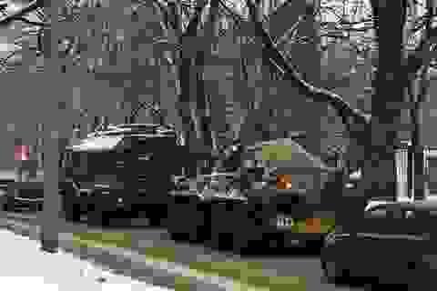 Thiết bị quân sự Nga đổ dồn về biên giới với Ukraine