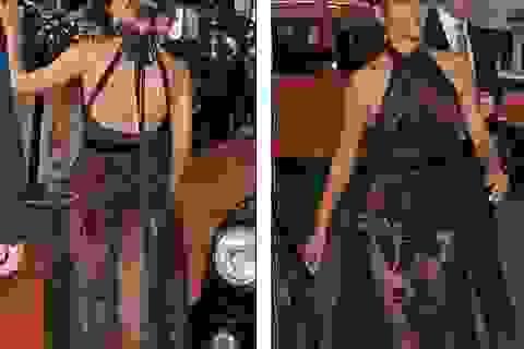 Halle Berry: 51 tuổi vẫn tự tin diện váy xuyên thấu
