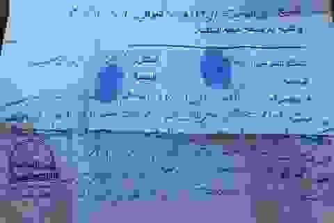 Phát hiện hóa đơn nghi IS mua bán nô lệ tình dục ở Mosul
