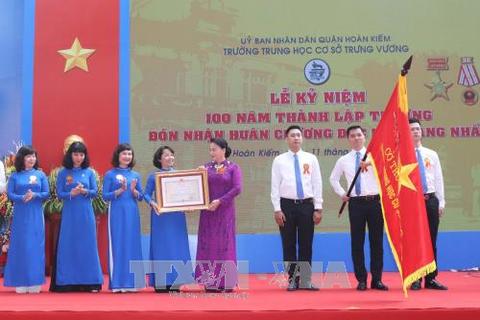 Chủ tịch Quốc hội dự Lễ Kỷ niệm 100 năm thành lập Trường THCS Trưng Vương