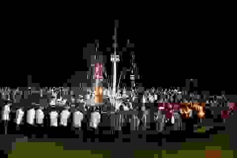 Trình diễn các làn điệu đặc sắc trong đêm hội cồng chiêng