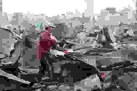 Hoang tàn hiện trường vụ cháy hơn 70 nhà dân ở Nha Trang