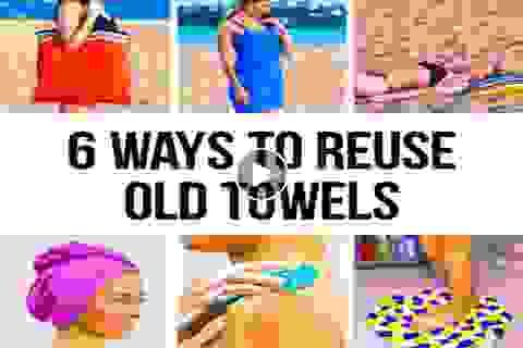 6 cách tuyệt vời tận dụng khăn tắm cũ