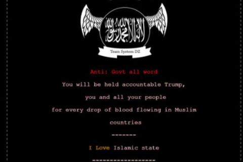 Nhiều trang web chính phủ Mỹ bị tấn công với thông điệp của IS