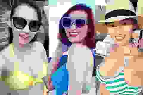 """Lã Thanh Huyền khoe trọn vòng 1 """"đẫy đà"""" trong trang phục bikini """"hút mắt"""""""