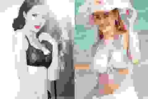 """Sao Việt """"chuyển giới"""" nóng bỏng với bikini"""