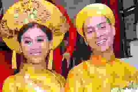 Cô dâu Lâm Khánh Chi rạng rỡ về nhà chồng