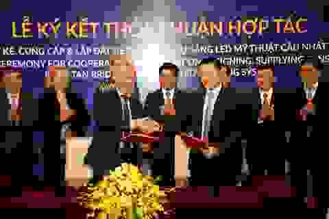 Tập đoàn Sun Group tài trợ hệ thống chiếu sáng cầu Nhật Tân