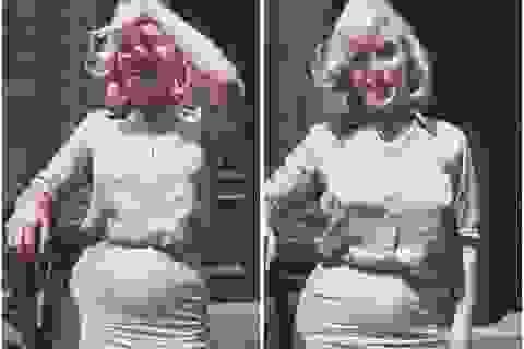 """Sốc với vòng eo khác lạ của """"biểu tượng sex"""" Marilyn Monroe"""