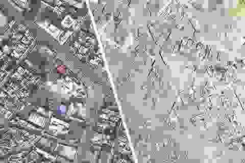 Sào huyệt Mosul trước và sau khi bị IS tàn phá