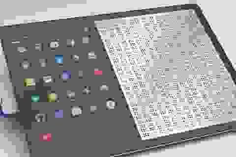 Đã có máy tính bảng dành cho người mù