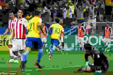 Neymar solo ghi bàn từ sân nhà, Brazil thắng đậm Paraguay