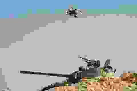Nga công bố hình ảnh Vikhr1 xé nát xe tăng khủng bố