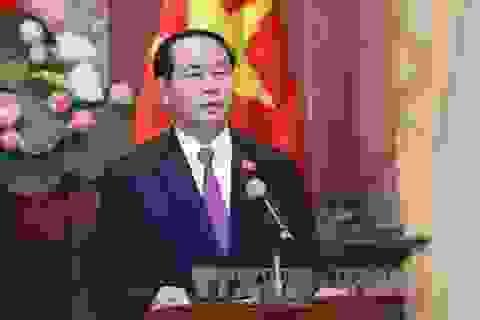 Chủ tịch nước Trần Đại Quang: Phát triển thiết thực quan hệ đặc biệt Việt - Lào