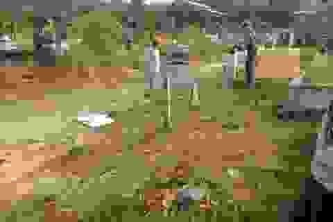 Chồng sát hại vợ rồi chở ra nghĩa trang đốt phi tang