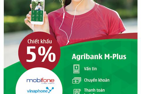 Nạp tiền điện thoại nhận ngay ưu đãi qua ứng dụng Agribank M-Plus.