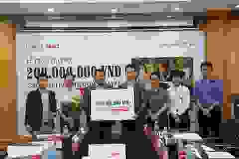 Lotte Mart trao 200 triệu đồng thực hiện chương trình phẫu thuật nụ cười