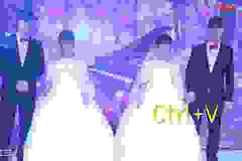 Anh em sinh đôi kết hôn cùng chị em sinh đôi khiến khách mời hoa cả mắt