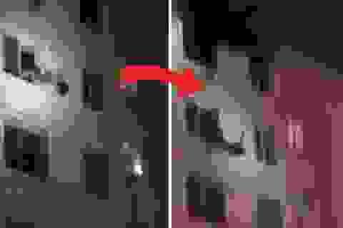 Cô gái Trung Quốc rớt lầu, giữa chừng lính cứu hỏa vươn tay tóm được