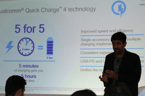 """Qualcomm """"khoe"""" công nghệ sạc 50% pin smartphone trong 5 phút"""