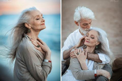 Bộ ảnh đẹp như mơ của cặp vợ chồng già đến thanh niên gặp còn phải ngả mũ kính nể
