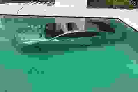 Cay cú vì bị đá, cô gái dìm xe sang của bạn trai tỷ phú xuống bể bơi
