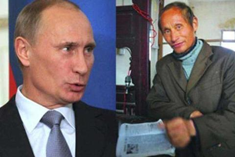 """Nỗi niềm của người đàn ông Trung Quốc giống Tổng thống Putin """"như hai giọt nước"""""""