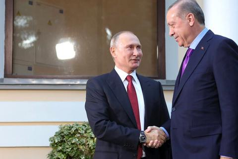 Sự cố ngoài ý muốn trong cuộc gặp giữa ông Putin và Tổng thống Thổ Nhĩ Kỳ