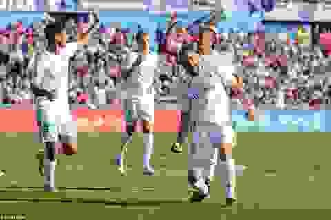 C.Ronaldo ghi bàn giúp Real Madrid lên ngôi nhì bảng La Liga