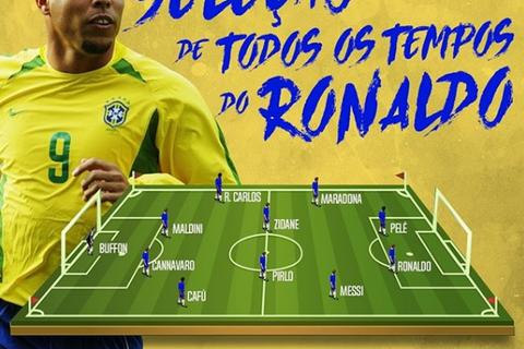 """Đội hình vĩ đại nhất của Ronaldo """"béo"""": Không có C.Ronaldo"""