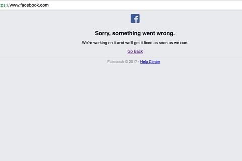 """Facebook xin lỗi vì sự cố """"sập"""" mạng hơn 30 phút"""