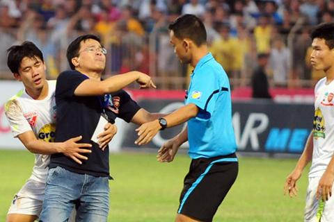 Trưởng đoàn HA Gia Lai nhận án treo giò 3 trận