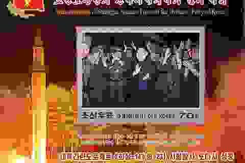 """Triều Tiên phát hành bộ """"tem tên lửa"""" giữa lúc căng thẳng"""