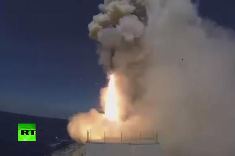 Tàu chiến Nga dội 4 tên lửa hành trình vào mục tiêu IS ở Syria
