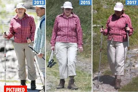 Thủ tướng Đức mặc một bộ trang phục đi dã ngoại suốt 5 năm?
